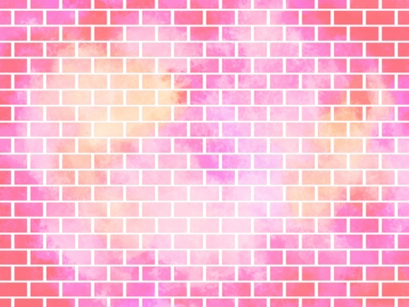 Brick watercolor background 001 pink