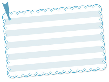 123. Card, light blue