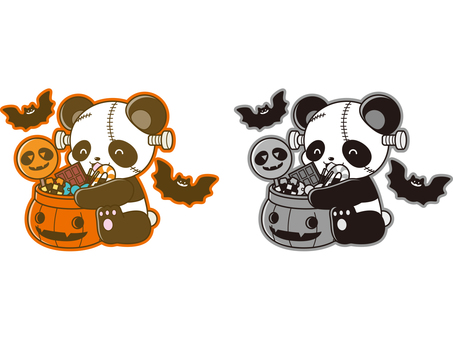 Panda illustration _ Halloween _ 02