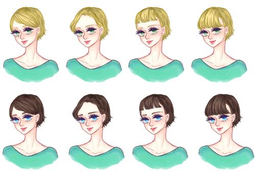 "Girls' hair style ""Short A"""