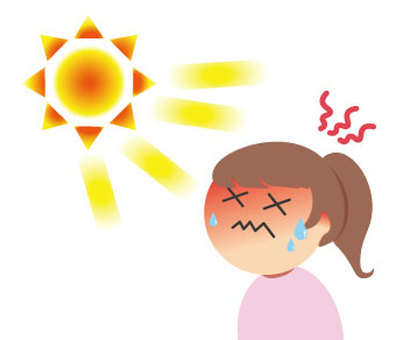 熱中症の女性