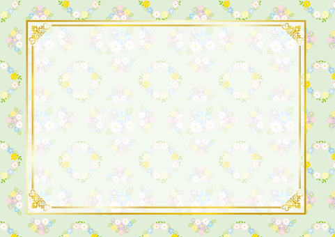 Flower pattern frame (green)