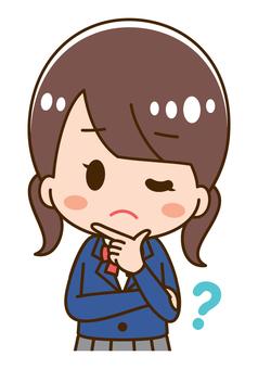 Illustration of annoying schoolgirl