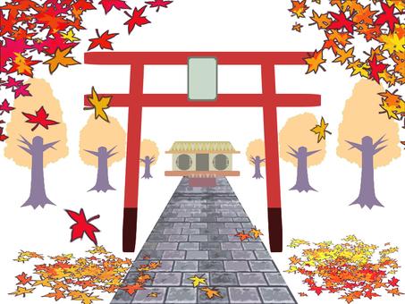 Shrine autumn autumn leaves