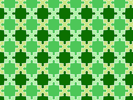 ai green puzzle background with swatch pattern