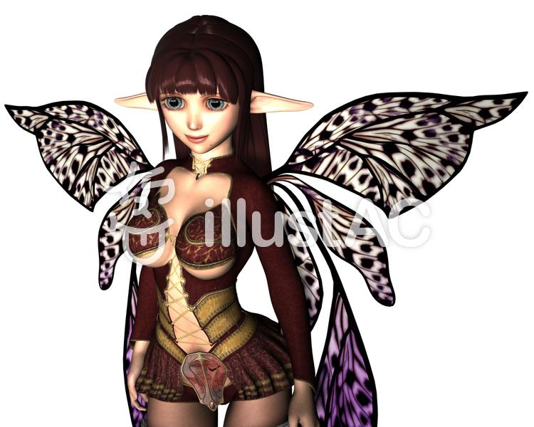 妖精少女1のイラスト