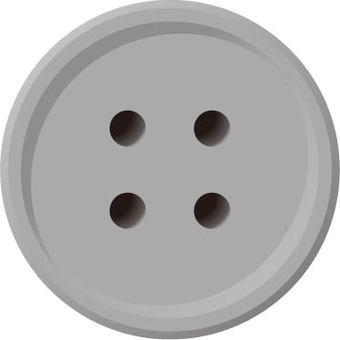 Four-hole button (gray)