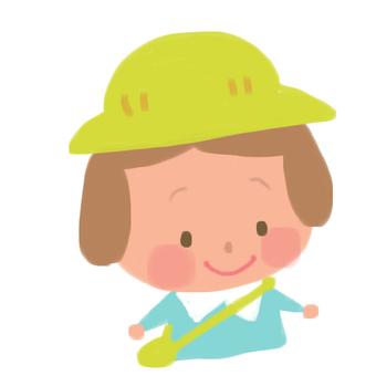 Nursery school baby
