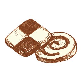 クッキーのスケッチイラスト