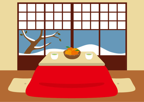 A room with a kotatsu