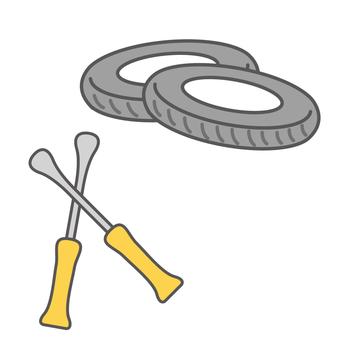 타이어와 타이어 레버