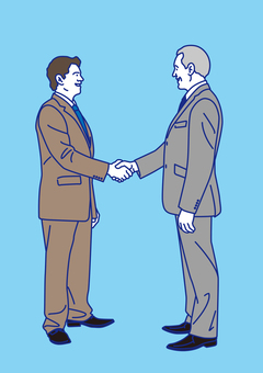 外國商人握手