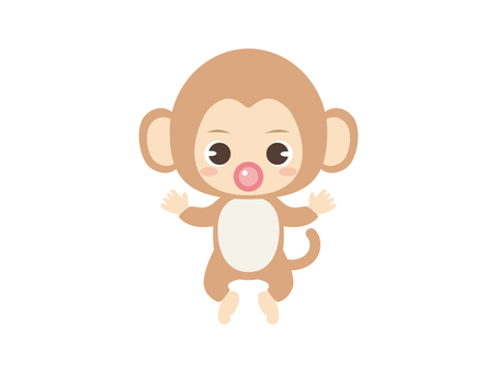 B064_baby clothes baby_monkey