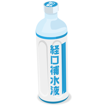 1 bottle of oral rehydration solution