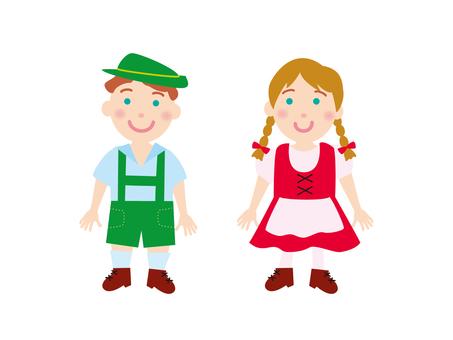 Swiss folk costume