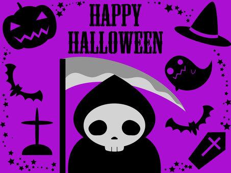 Halloween Shinigami purple
