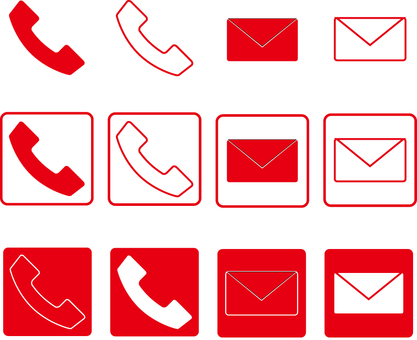 Contact us icon red