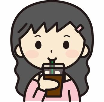 Women drinking takeaway coffee