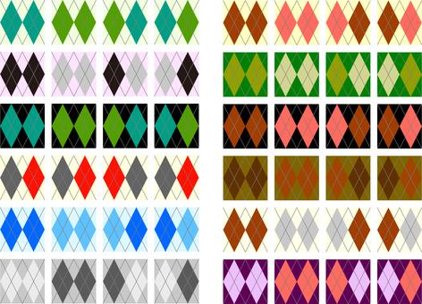Argyle pattern material