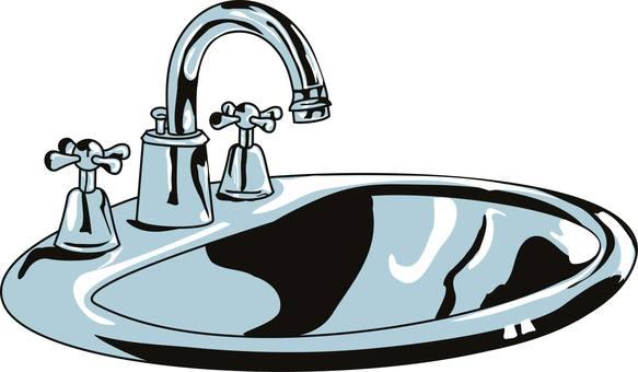 Wash basin water
