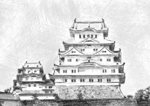 Himeji Castle sketch