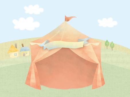 Tent landscape