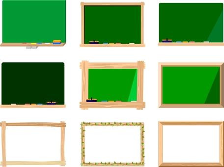 黑板和木製框架