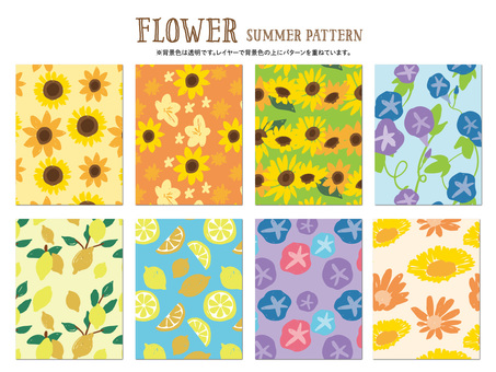 Flower summer pattern