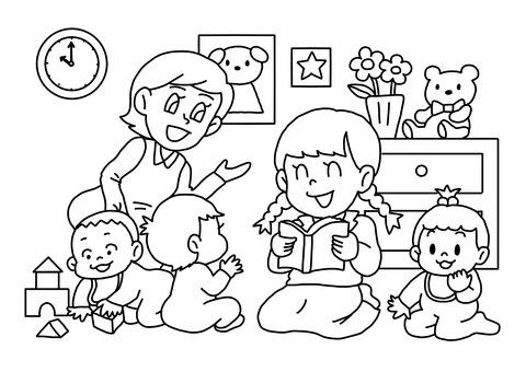 Nursery coloring book