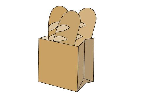 Bread in a paper bag