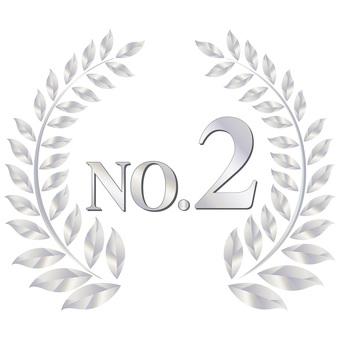 Number two emblem icon Medal ornamental frame