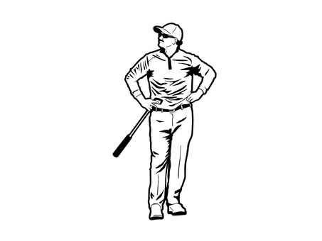 Golfer (monochrome)