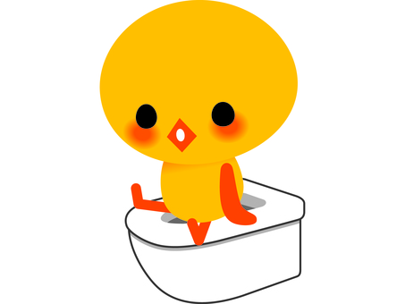 Chick and toilet 1