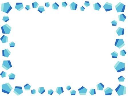 Crystal-style frame
