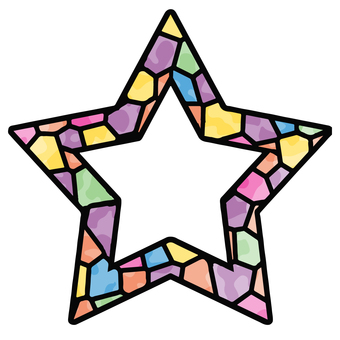 Stained glass star frame