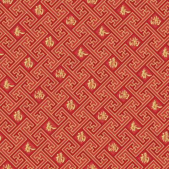 中国文様-卍繋ぎ2・文字入り