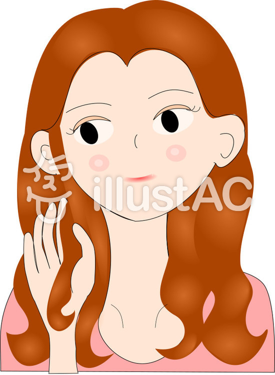 After 髪の綺麗な女性 美容 02イラスト No 892807無料イラストなら