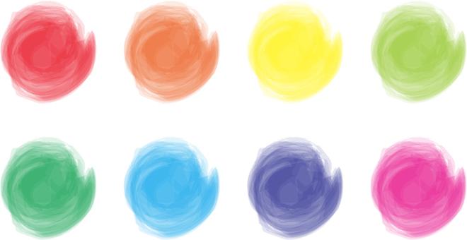 Rainbow color Hohawa