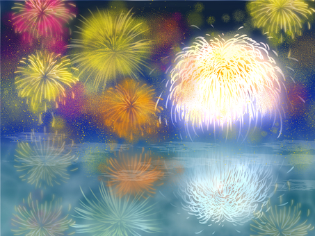 Waterside fireworks
