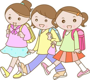 Elementary school students in school