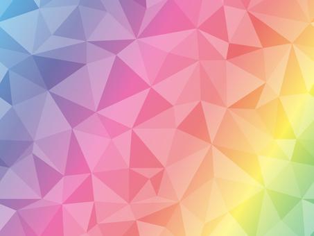 Polygon background rainbow