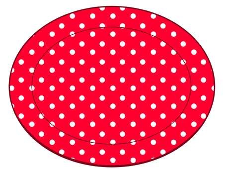 Red plate with polka dots