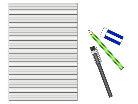 Cut writing instrument and letter pad