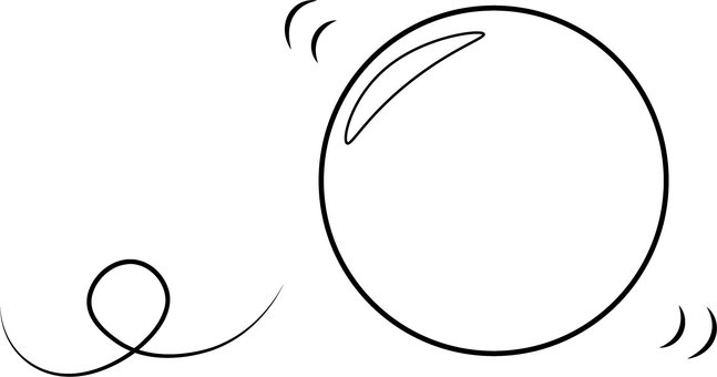 Rolling ball (monochrome)