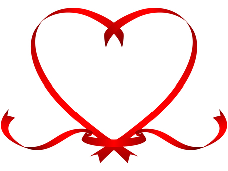 Heart ribbon -1 red