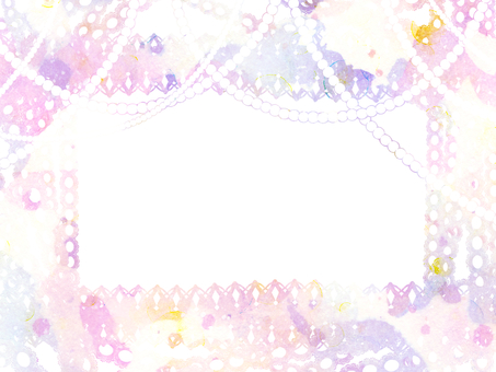 Hand-painted watercolor dream Yume lace pearl pink