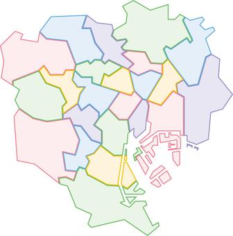 Tokyo 23 Ward Map