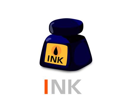 English word card I INK