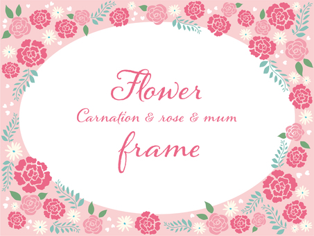 Carnation and rose flower frame.1