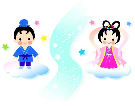 Illustration of Orihime and Hikobori